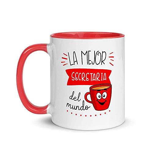 Kembilove. Tazas Desayuno Originales de Profesiones para Regalar a Trabajadores – Taza de Café de la Mejor Secretaria del Mundo – Tazas con Frases Divertidas 100 Diseños Diferentes