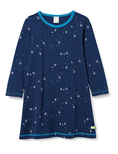 loud + proud Mädchen Kleid Druck Kinderkleid, Ultramarin, 110/116