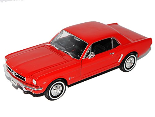 Welly Ford Mustang I Rot Coupe 1/2 1964-1966 1/24 Modell Auto mit individiuellem Wunschkennzeichen