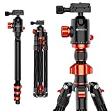GEEKOTO Camera Tripod, DSLR Tripod with 360 Degree Ball Head, 79 inch Carbon Fiber Tripod with Monopod 1/4 inch Quick Release Plate for Vlog Travel and Work