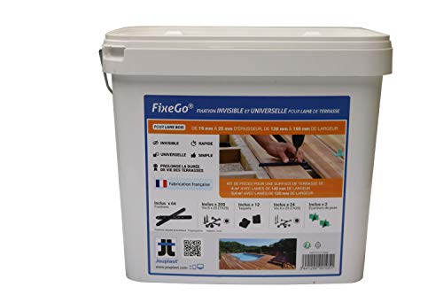 FIXEGO® FIXATION INVISIBLE POUR LAME DE TERRASSE EPAISSEUR 19-25 mm
