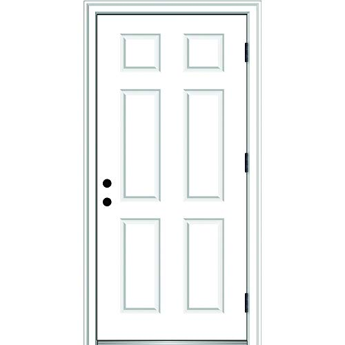 National Door Company ZZ364679L Fiberglass Smooth, Primed,...