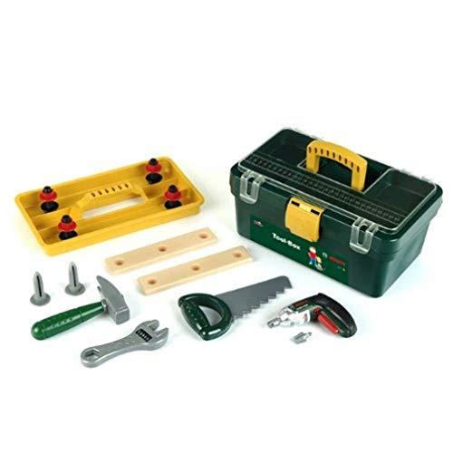 Theo Klein 8305 - Bosch Werkzeugbox mit Ixolino und Zubehör, Spielzeug