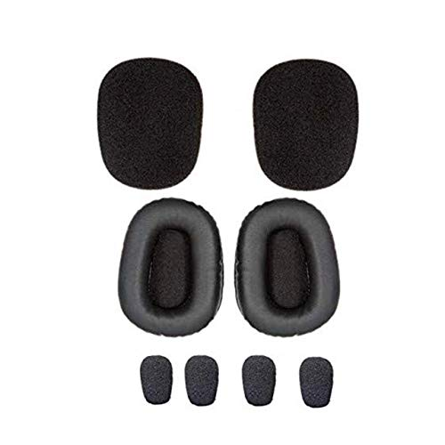 Blueparrott B450-xt Cushion Kit - Includes Foam and Leatherette Replacement Ear Cushions, Four Foam Windscreens (for B450-XT only - 1st Gen Prior to May 2020) VXI-204019-B