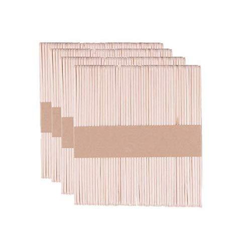 Palitos de madera para manualidades, Gxhong Palitos de madera, Palitos De Madera Helado, Popsicle Sticks, Palos de helados de madera natural, DIY Palitos de artesanía (Natural - 140 X 10 X 2MM)