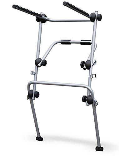 MAIN portabici posteriore per 3 biciclette, fissaggio con cinghie