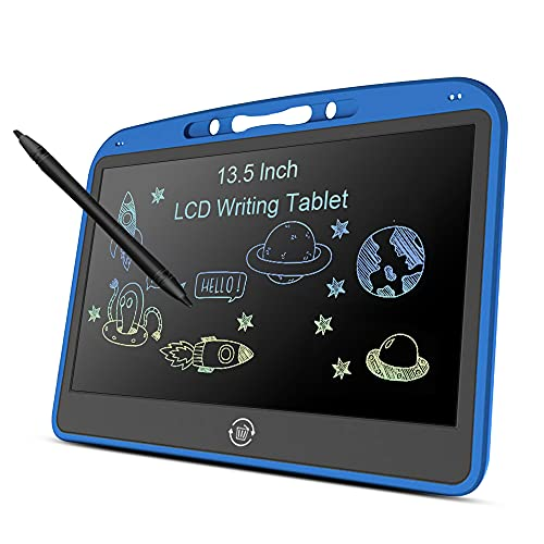 LCD Writing Tablet, Drawing Board 13.5 Inch Colorful Screen Drawing Doodle Pad with Lock Function Erasable for Home School Office Traveling