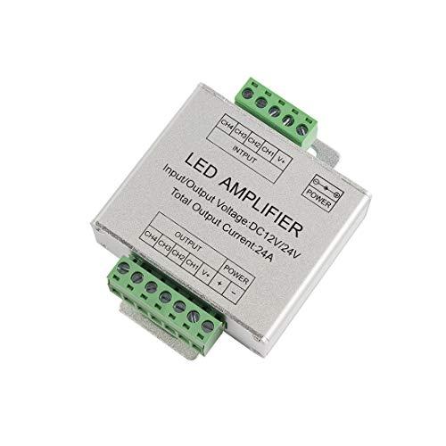 Aexit DC12-24V Aluminium Shell RGBW Verstärker LED Licht Controller Silber (4024b0c024cb7d32e8286a4903afc2ff)