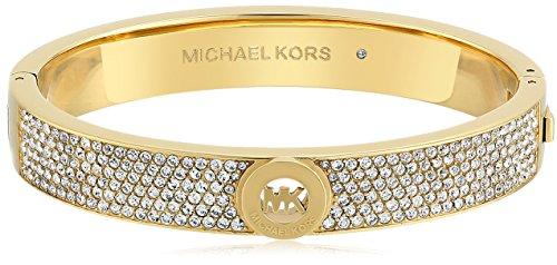 Michael Kors Fulton Armreif mit Scharnier, Metall, Gold Pavé, Einheitsgröße