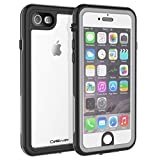 CellEver Compatible with iPhone 6 / 6s Waterproof Case Shockproof IP68 Certified SandProof Snowproof Full Body Protective Clear Transparent Cover Designed for iPhone 6 / 6s (4.7 Inch) KZ Gray