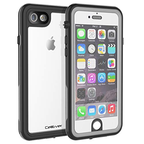 CellEver Waterproof Case for iPhone 6 / iPhone 6s, 4.7-Inch, Clear Waterproof Case IP68 Certified Shockproof Sandproof Snowproof Full Body Sealed Protective Transparent Cover KZ (Gray)
