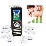 Electroestimuladores Tens y EMS Estimulador De Pulsos, Electroestimulador Digital Masaje,Recargable con 16 Modos y 8 Pads 2 Canales