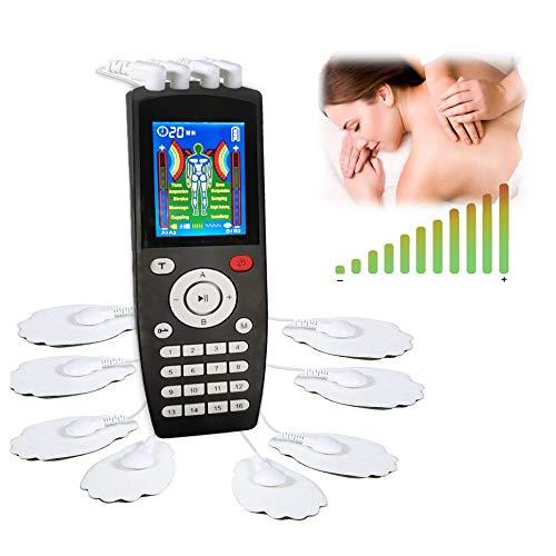 Électrostimulateur TENS,Ems Système de relaxation musculair, soulagement des douleurs avec 16 programmes de massage,8 électrodes et 2 canaux de sortie pour le traitement et la gestion des douleurs
