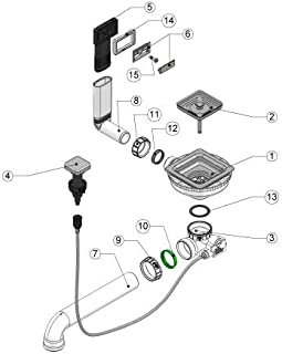 NABER 1014092 Ablaufgarnitur ERSATZTEILE quadratisches Korbventil, Drehexzentergarnitur