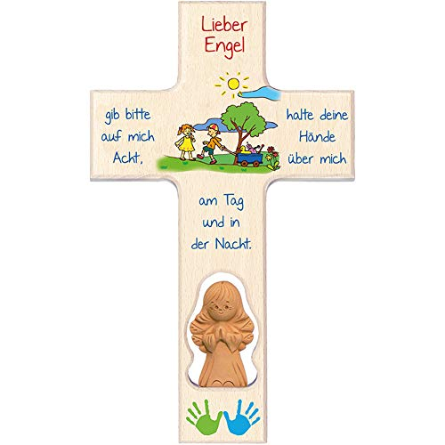 Fritz Cox® - Kinderkreuz mit Tonengel 'Lieber Engel'