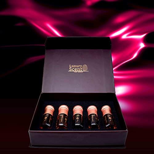 Set de colección de aceite de perfume de almizcle oscuro de lujo con caja de regalo, aroma oriental de alta calidad