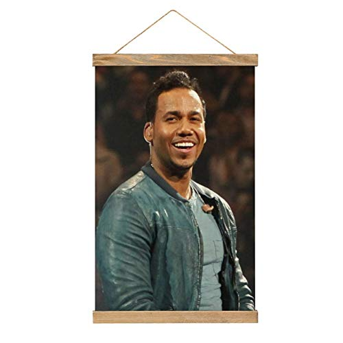 IIOOPP Romeo Santos Poster Wall Decor Canvas Art Pictures Vertical Hang Painting with Lanyard