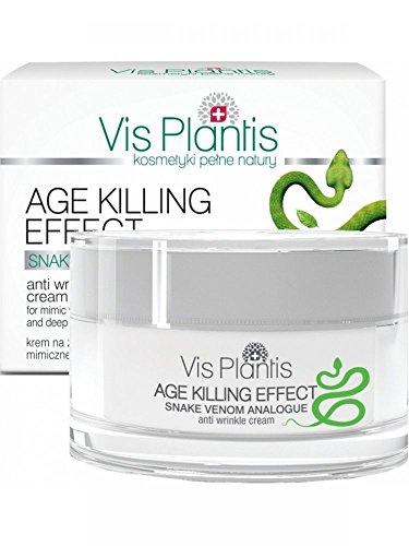 Vis PLANTIS Age Killing Effect Crème de jour anti-rides contre mimiques et de Rides Profondes avec Gift du Serpent (Viper), 50 ml