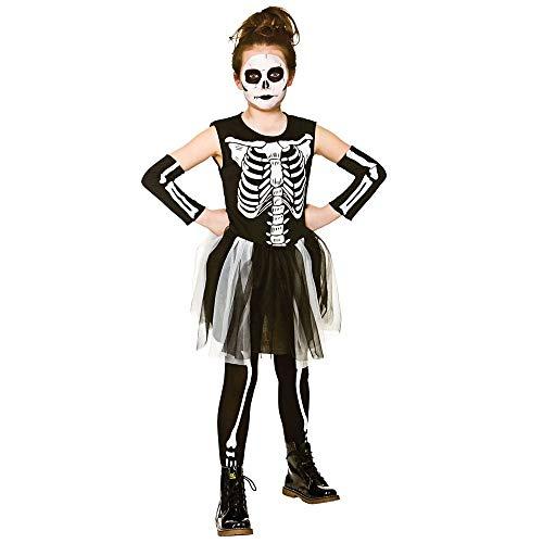 Girls Skelebones Halloween Fancy Dress Costume