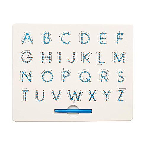 Cretee A bis Z Buchstaben & Anzahl Magnet Tablet Für Kinder Pädagogisches Spielzeug Magnetkugeln Bord Alphabet (Uppercase)