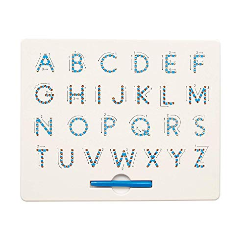 Comprar 1 juego de 3 imanes de tableta (mayúscula+número+minúscula) para niños juguete educativo bola magnética tablero