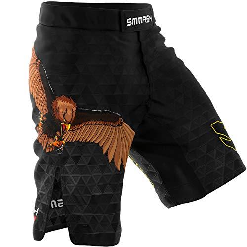 SMMASH Germany 2.0 Herren Sport Shorts für Boxen Kampfsport MMA, UFC, Training Sporthose Kurz für Männer, Crossfit Trainingshose Atmungsaktiv und Leicht, Hergestellt in der EU (S)