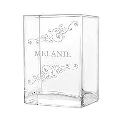 polar-effekt kleine Blumenvase Vase Personalisiert mit Gravur - Geschenkidee zur Hochzeit oder Muttertag - Motiv Blumenranken