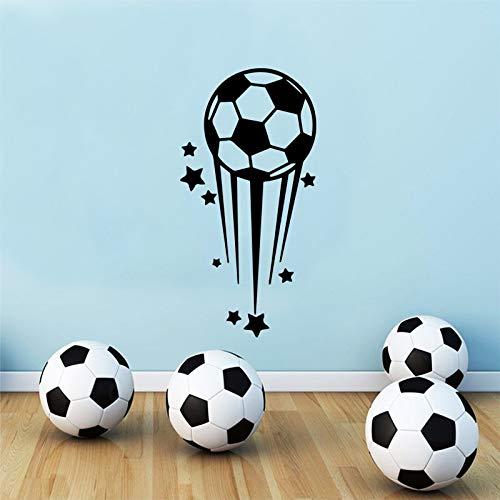 WERWN Decoración Creativa del Sitio de la Pared de la impresión del fútbol del Muchacho de la Estrella fugaz de la Moda