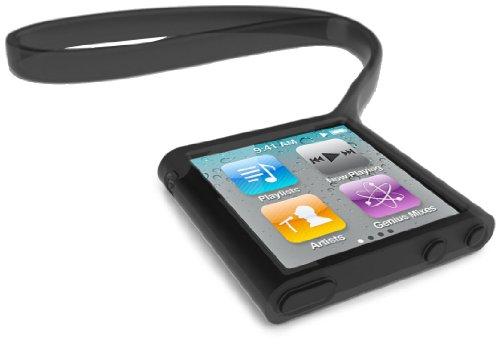 Griffin Wristlet Negro Silicona - Fundas para mp3/mp4 (Negro, iPod nano 6, Silicona)