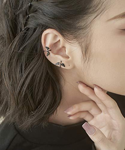 Anglacesmade Gothic Punk zwarte draak oor manchet kleine duivel niet-Piercing Cartilage oorbellen Boho Hoop oor manchet voor vrouwen en meisjes