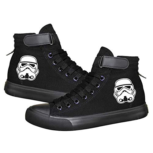 Star Wars Darth Vader White Soldier Sith Empire Galactic Empire Cosplay Schuhe Canvas Schuhe Luminous Sneakers, Herren, Picture 4, 7 B(M) US Female