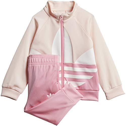 adidas Originals unisex-baby Big Trefoil Tracksuit Pink/Light Pink/White 18M