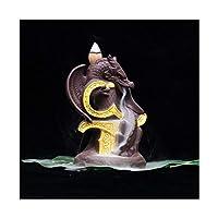 セラミック像ドラゴン逆流逆流香仏ホルダーバーナー砂wlood吸気飾り工芸品在宅装飾