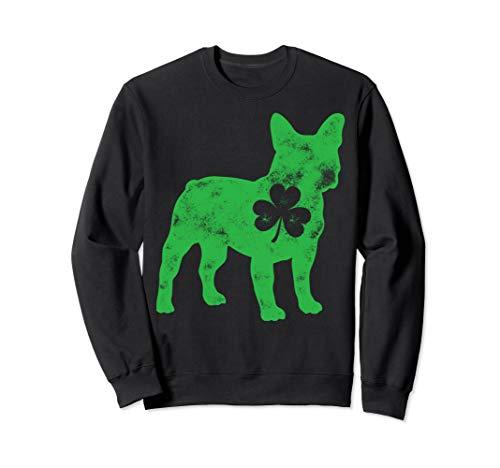 French Bulldog St Patricks Day Boys Men Dog Shamrock Gift Sweatshirt