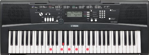 Yamaha Digital Keyboard EZ-220, schwarz – Portables Digital-Keyboard mit USB-to-Host-Anschluss – Keyboard mit 61 anschlagdynamischen Leuchttasten