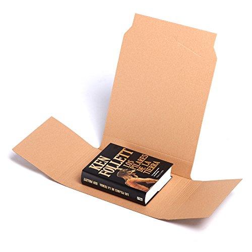 TeleCajas® | (50x) Cajas para Libros Individuales Envíos postales | Pack 50 unidades