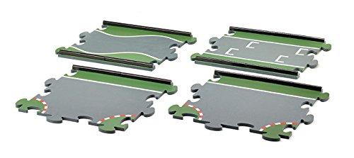 SIKU 6853, Sondermatten, 1 Start/Ziel-Matte, 1 Engstelle, 2 T-Stücke, Multicolor, Zusammensteckbar, Kunststoff