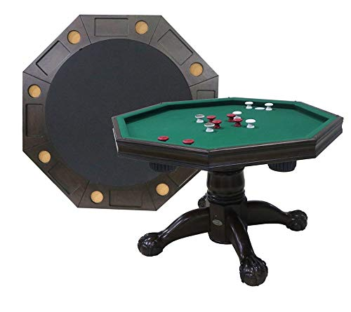 Buy Berner Billiards 3 in 1 Table - Octagon 54 Bumper Pool, Poker & Dining in Espresso