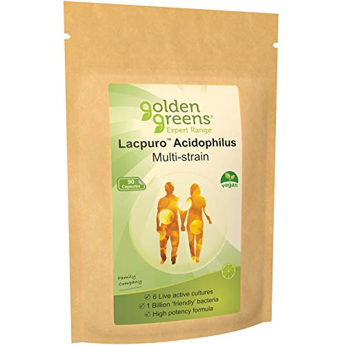 Golden Greens Multi-Strain Acidophilus Probiotic Capsules x 90
