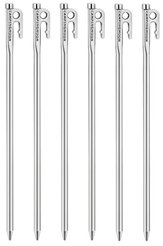 キャンピングムーン CAMPING MOON マルテンサイト系ステンレス鋼420J 焼き入れ 鍛造ペグ Rシリーズ パワーペグ 固い地面に最適 35cm 6本セット