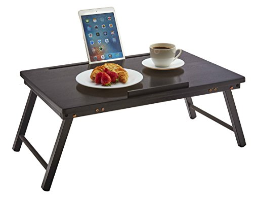 PJ Wood Folding Open Top Laptop Desk and Bed Tray...
