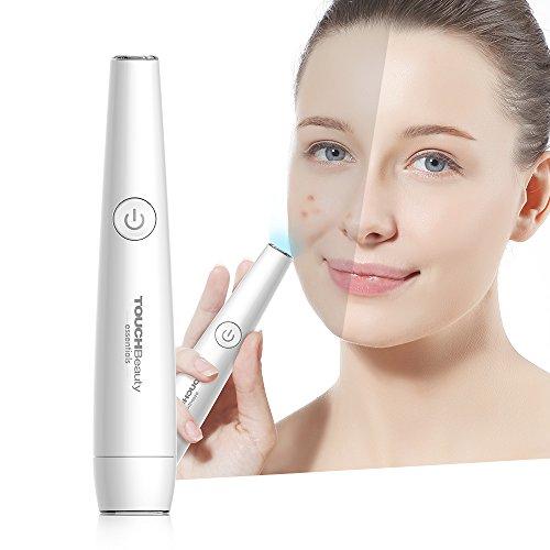 TOUCHBeauty Anti Akne Lichttherapiestift für das Gesicht - Behandlung von Pickeln, Entzündungen und Hautunreinheiten - 2in1 Anti Falten Stick mit rotem und blauem Licht AG-1693