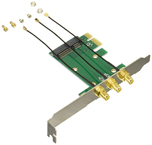 変換名人 miniPCI-E → PCI-E変換ボード [ 無線LAN用接続ケーブル付 ] MPCIE-PCIEW