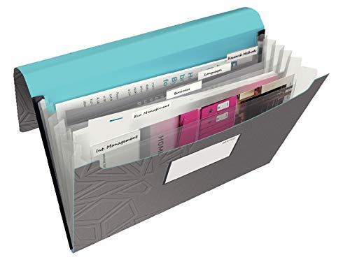 Leitz, Projektmappe, Für bis zu 250 Blatt A4, Gummibandverschluss, PP-Material, Dunkelgrau, Urban Chic, 39970089