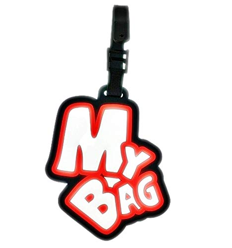 NEW KIE Tag My Bag Silicone Luggage Address Label Id Suitcase Travel Tags Baggage Name Bag Holder New Design Identifier (Mัy Bag Black)