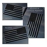 Black American Flag Vinyl Car Window Decal Sticker (Normal)
