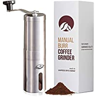JavaPresse Manual Coffee Grinder with Adjustable Settings