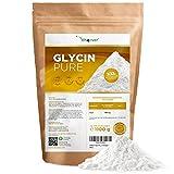 Glicina pura - 1100 g (1,1 kg) de polvo puro sin aditivos - Con cuchara dosificadora - 100% aminoácido glicina - Vegano