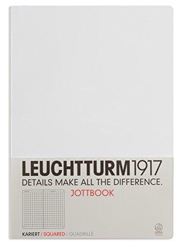 LEUCHTTURM1917 Jottbook 343057 - Cuaderno de notas (A4), hojas cuadriculadas, color blanco