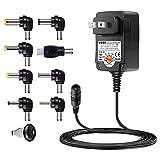 Universal AC Adapter, ZOZO 12W 3V 4.5V 5V 6V 7.5V 9V 12V Regulated Multi Voltage Switching Replacement Power Supply for Household Electronics Routers Speakers CCTV Cameras Smart Phone USB